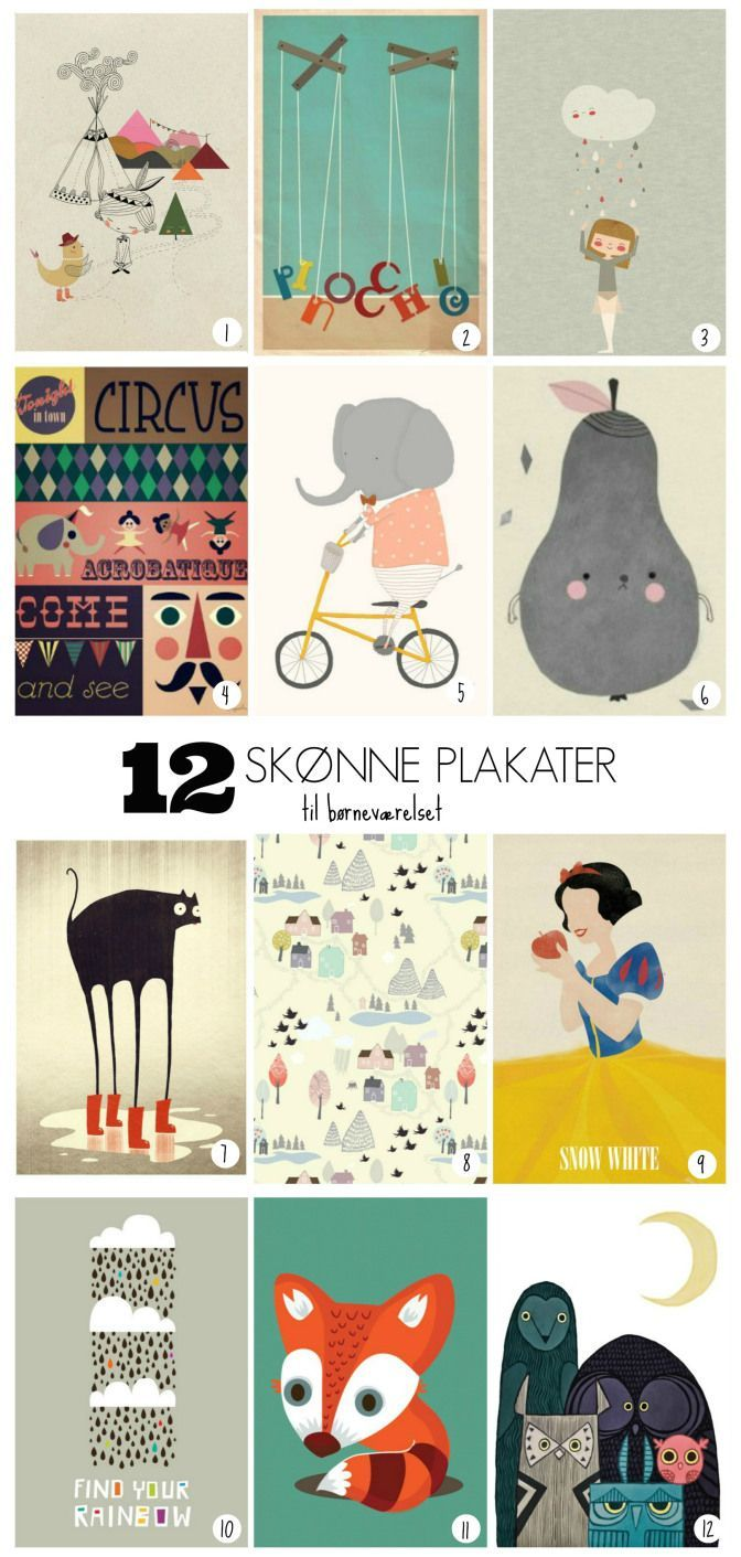 Cool 12 art prints for kids room by for Cool posters for your room