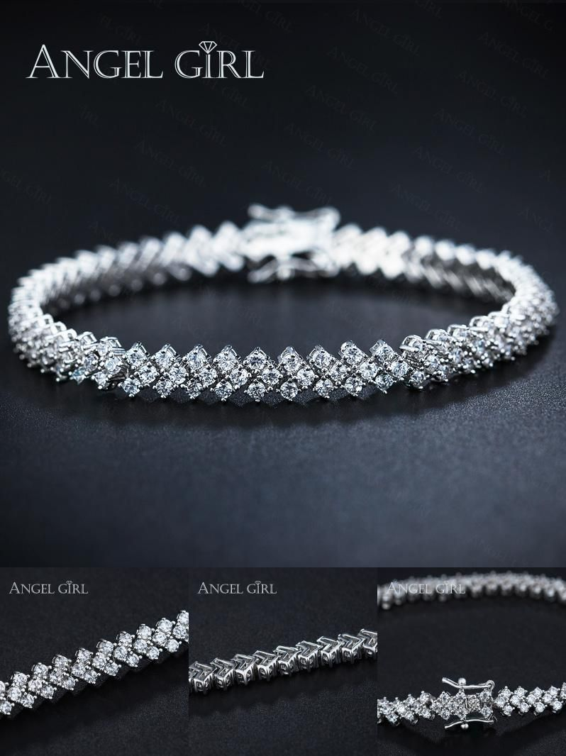 Visit to buy angel girl aaa elegant cz tennis bracelets for woman
