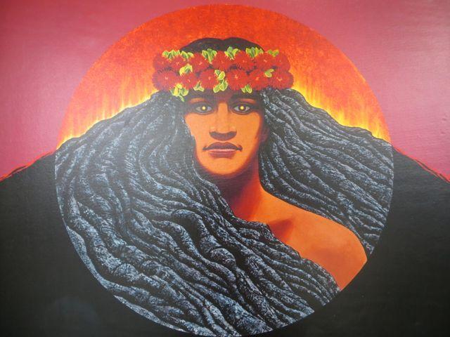 Pele ist nach hawaiischem Glauben eine Feuer- und Vulkangöttin