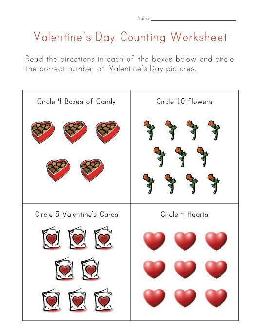 Valentine's Day Worksheets For Kids Valentines School, Valentine's Day  Printables, Valentine Worksheets