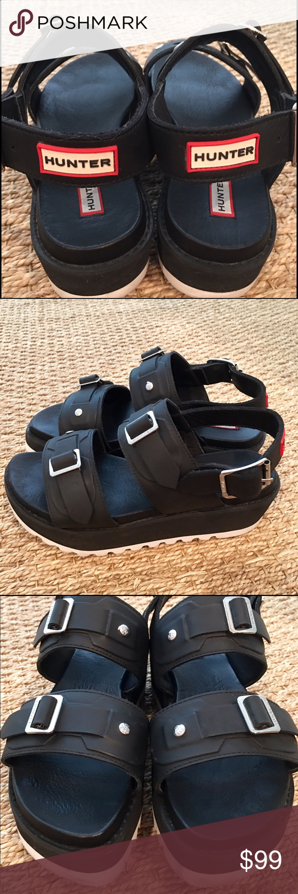 273701f922f Hunter Double Buckle Platform Sandals I didn t even realize Hunter sold  other types of shoes. These are substantial