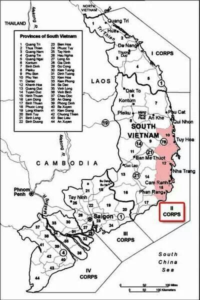 Vietnam Was Divided Into Four Corps Areas I Fought In I Corps