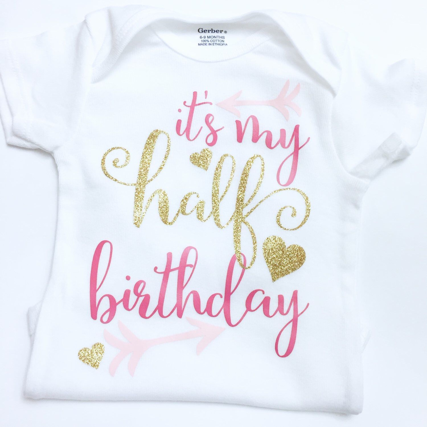 Its My Half Birthday Onesie Outfit Girl