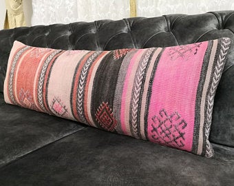 Extra Large Lumbar Pillow Cover Etsy Etsy Pillow Covers Lumbar Pillow Cover Pillows