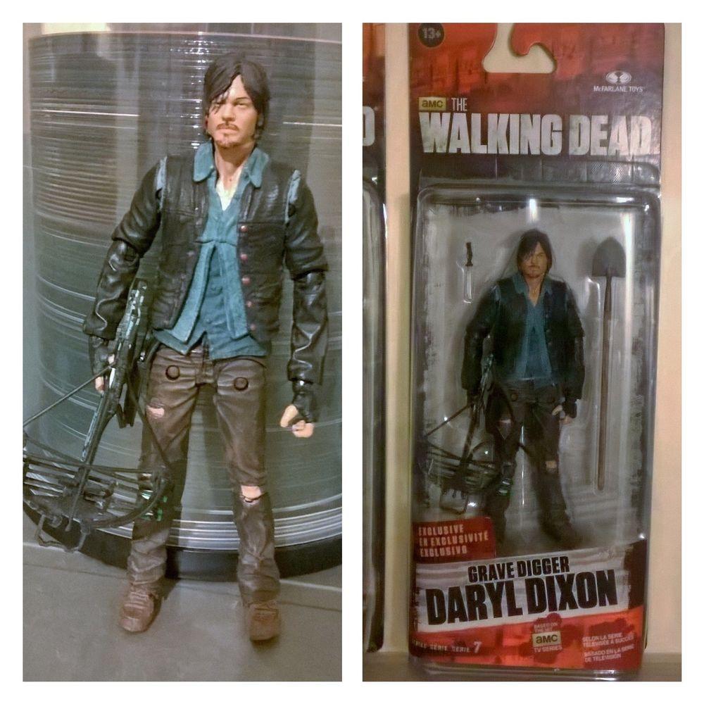 Mcfarlane walking dead series 6 daryl dixon action figure - Mcfarlane Amc The Walking Dead Daryl Dixon Custom Figure Mcfarlane