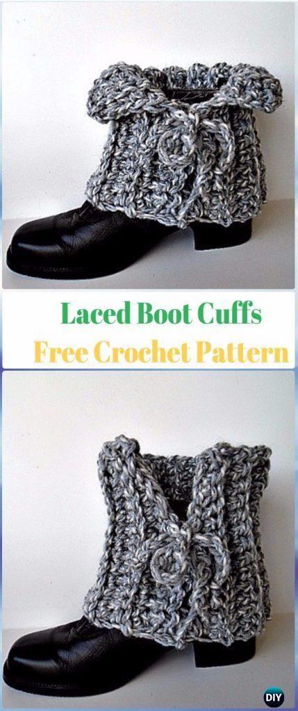 Crochet Boot Cuffs & Toppers Free Patterns & Tutorials | Zapatos de ...