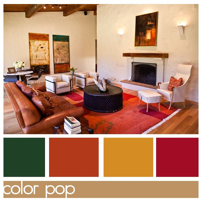Color Pop Ph Mag Issue 4 Prairie Hive Green Colour Palette Home Wall Colour Color Pop #orange #and #green #living #room