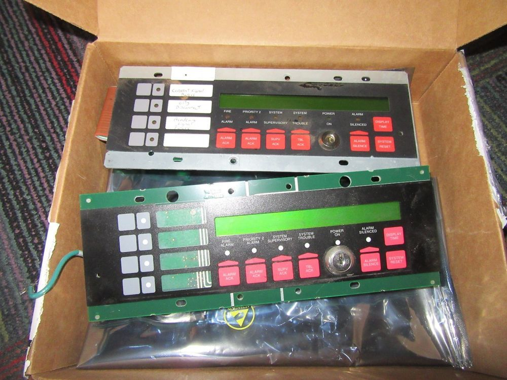 Lot of 2 simplex annunciator fire alarm lcd display 579-979