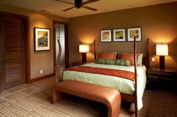 Caramel Color Details For Sophisticated Bedroom Look