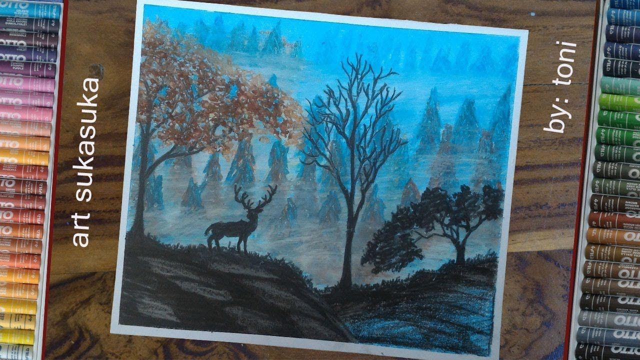 8700 Koleksi Lukisan Pensil Pemandangan Hutan Yang Mudah HD Terbaik