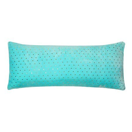 Mainstays Kids Gold Foil Dot Mint Body Pillow Cover Body Pillow Best Mainstays Body Pillow Cover