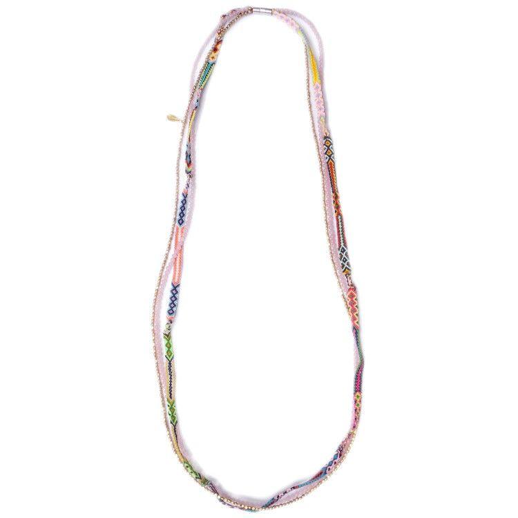 Pulsera - Collar Zaleo Chic rosa