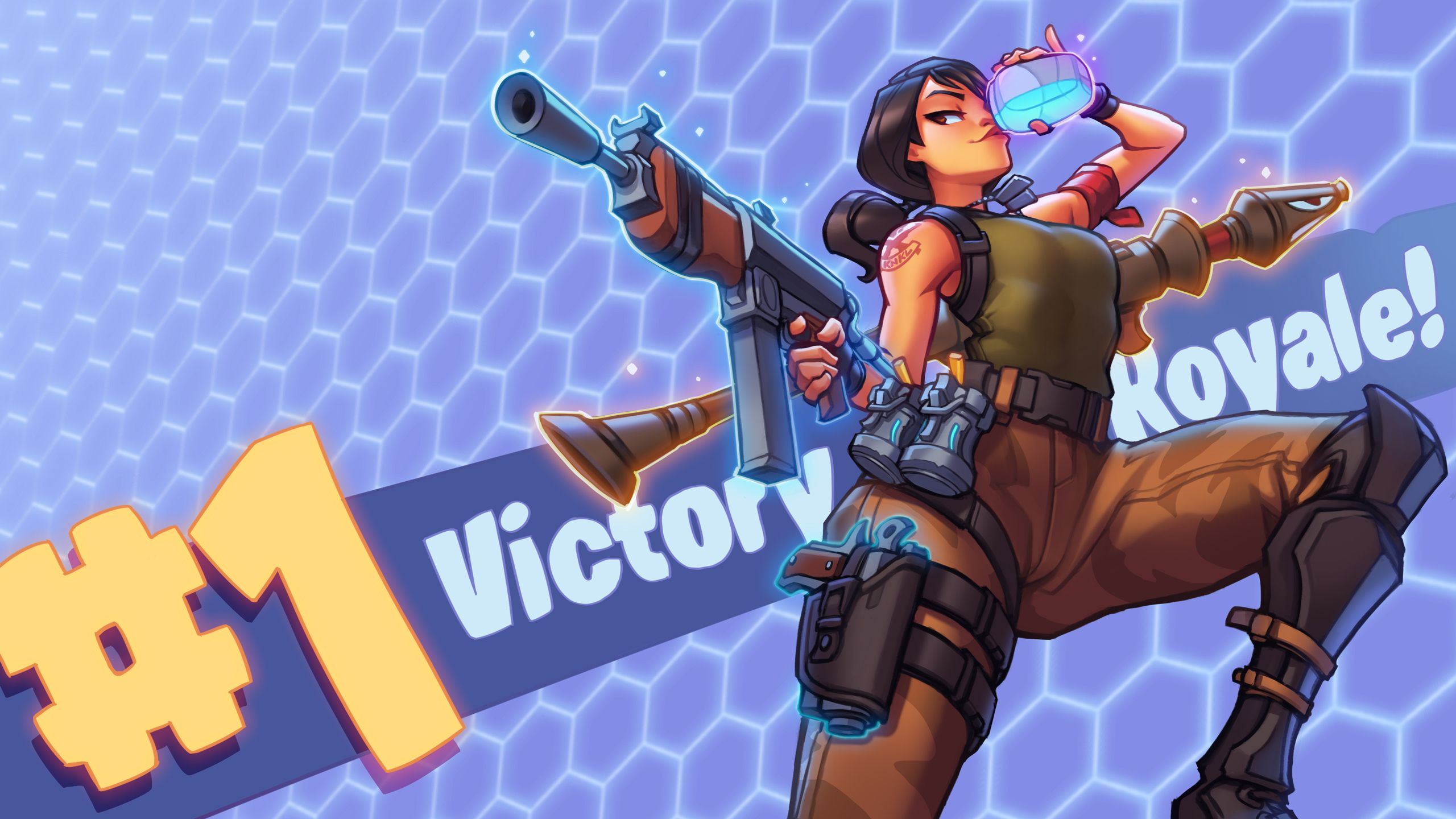 Fan Art Victory Royale 2560x1440 Pixel Battle Royale
