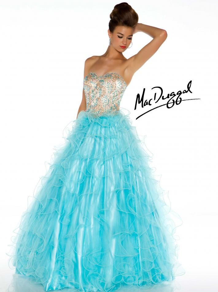 Ice Blue Ball Gown with Glimmering Rhinestones | Gowns/Dresses ...