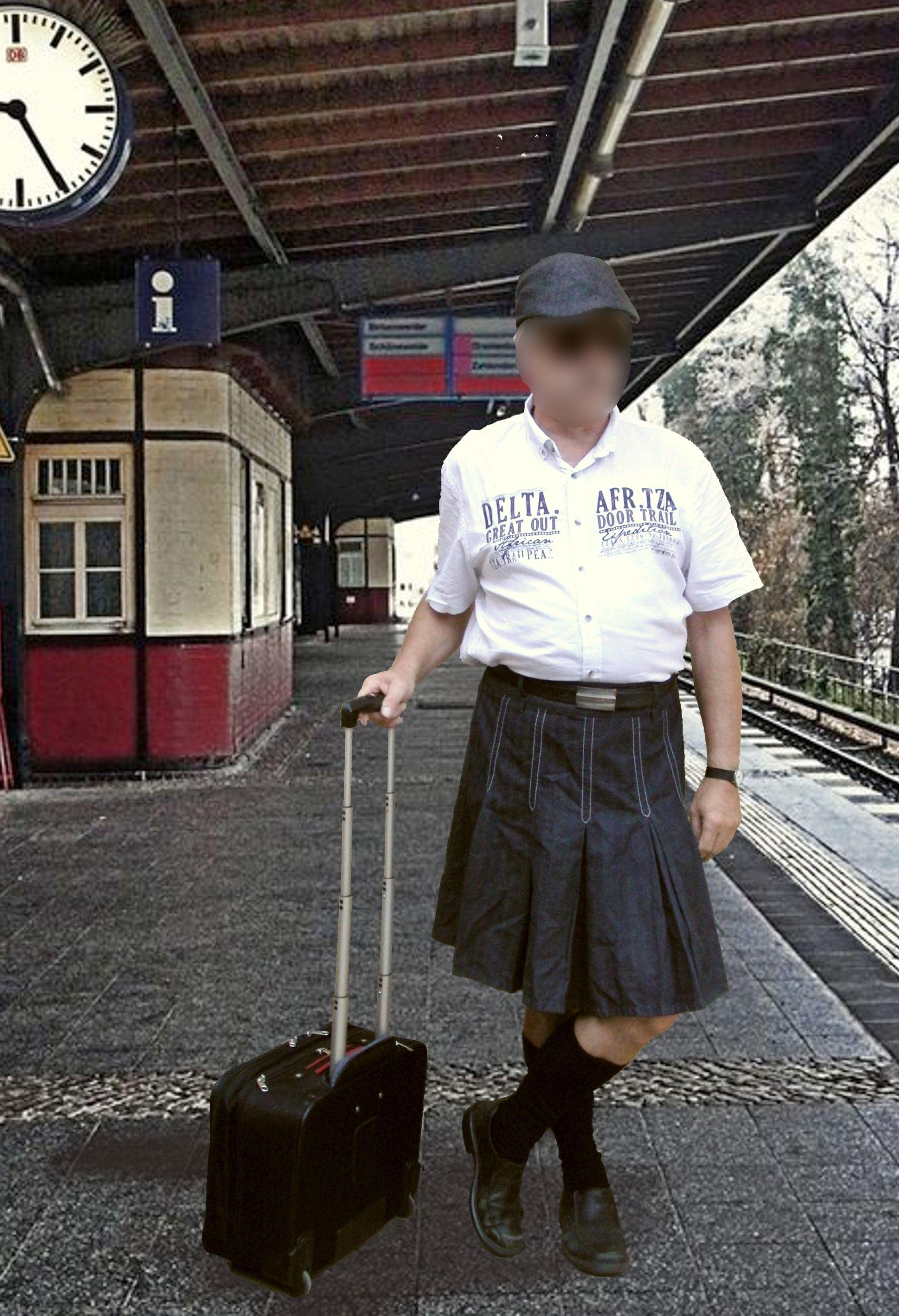 Bequemes Reise- und Freizeit Outfit für ihn: Faltenrock