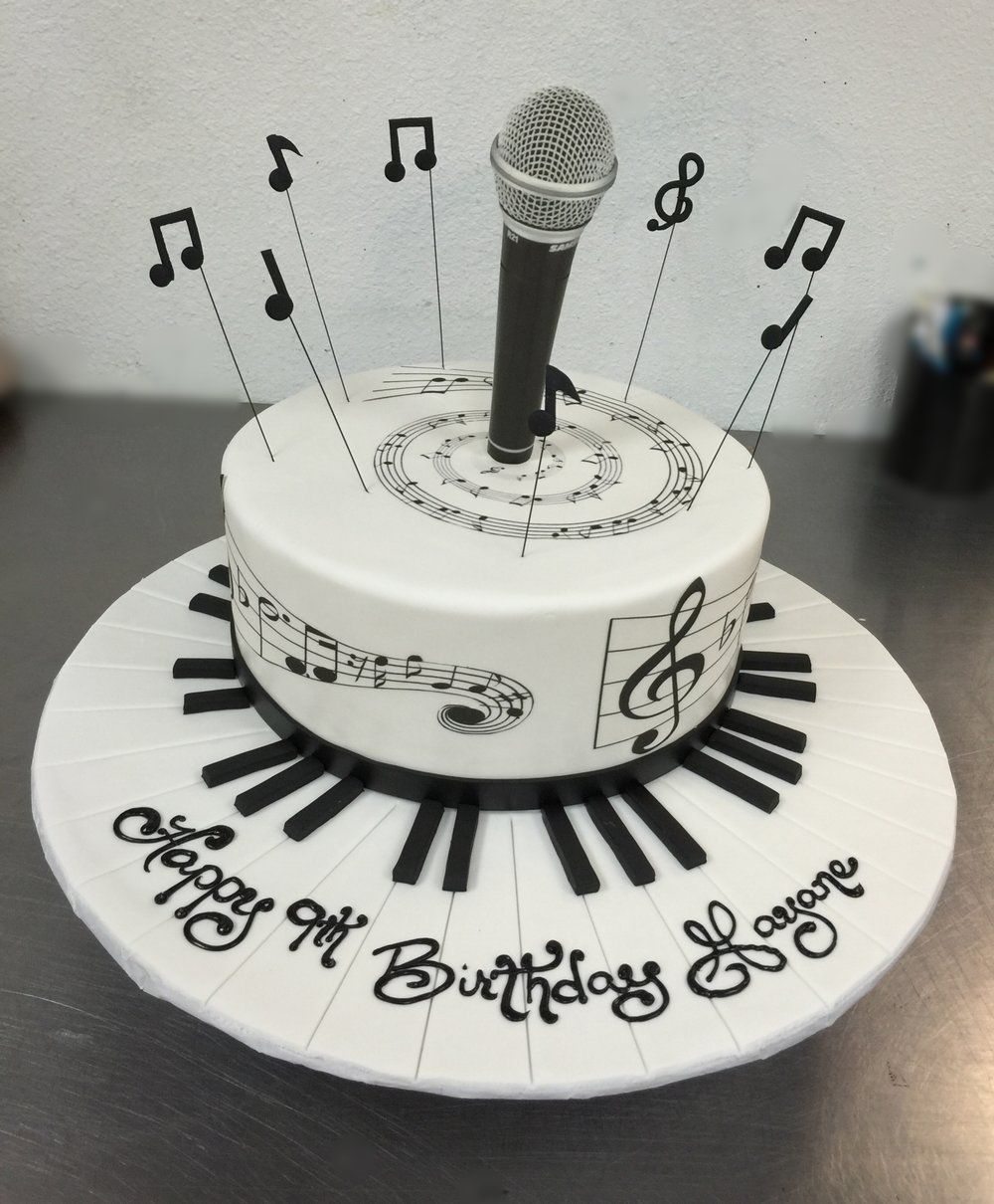 Music Themed Cake Birthday Cakes Pinterest Music themed cakes