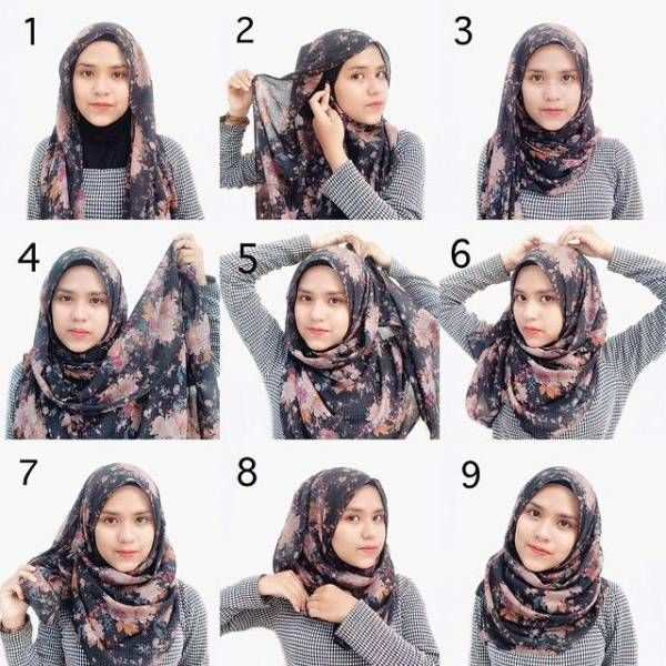 Tutorial Hijab Segi Empat Rawis Anak Remaja Model Pakaian Hijab Hijab Gaya Hijab