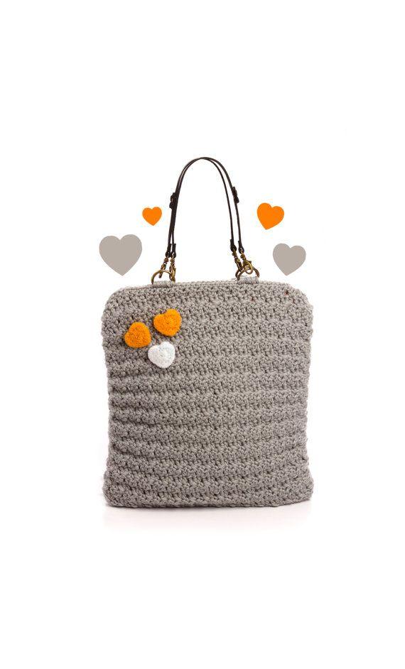 grey bag | TRAPITO | Pinterest | Bolsos, Carteras en crochet y Monederos