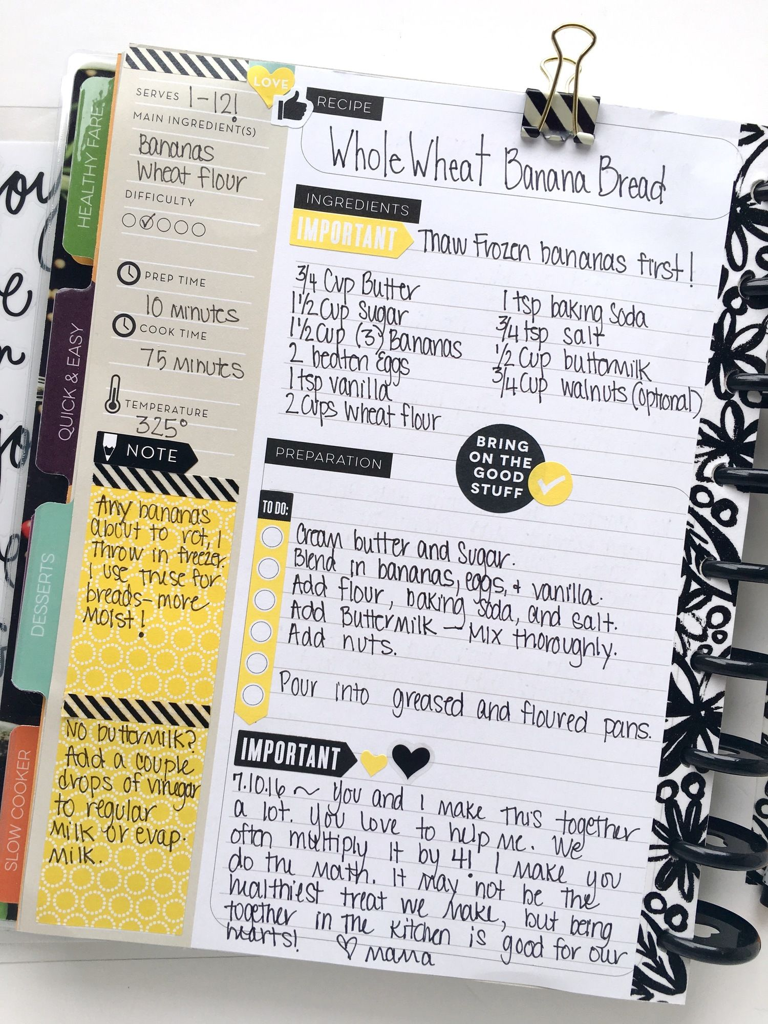 It is a photo of Remarkable Happy Planner Recipe Printable
