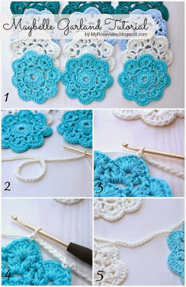 My Rose Valley How To Make A Maybelle Flower Garland Crochet Love