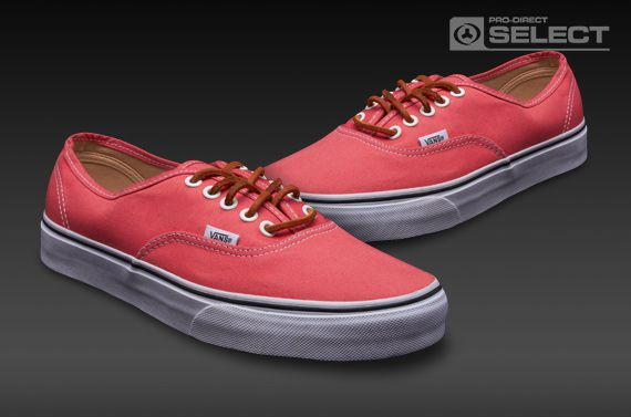 4d6a8b3250c3 Vans Authentic - Mens Select Shoes - (Brushed Twill) Salmon-True White