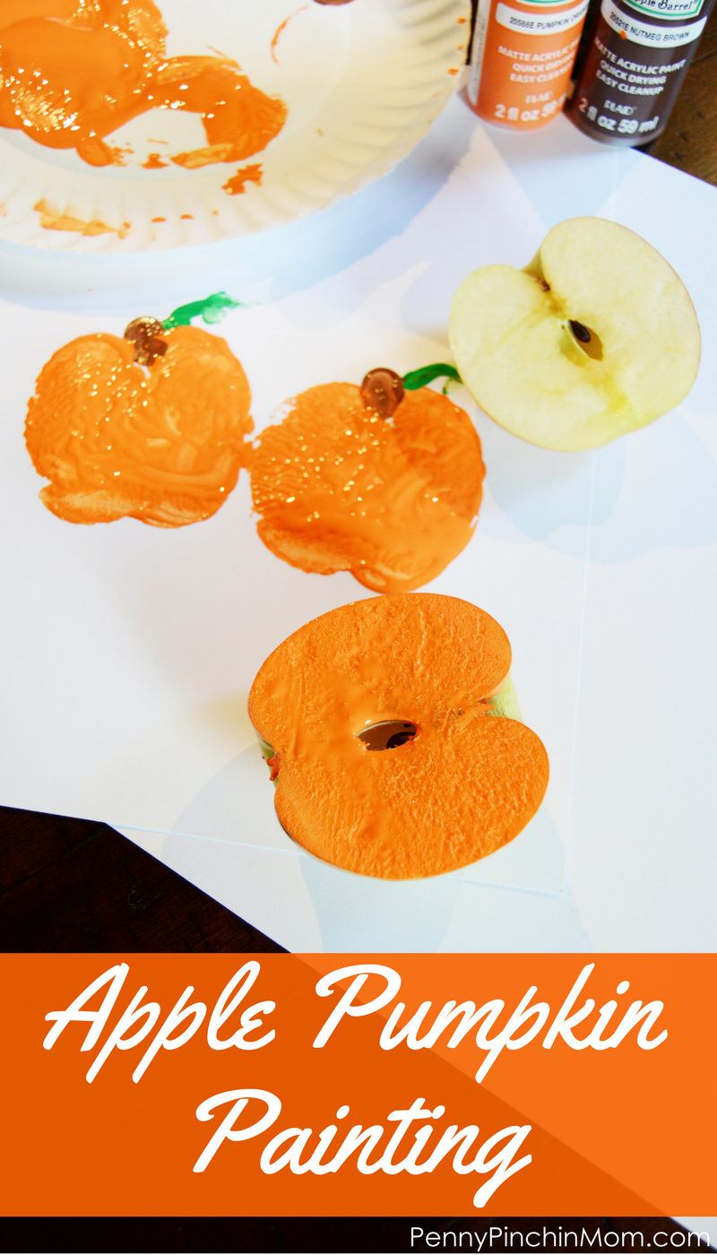 Apple Pumpkin Painting #pumpkincraftspreschool Apple Pumpkin Painting | Fall Craft | Preschool Fall Craft | Fall DIY | Kids Fall DIY | Fall Kid's Craft | Pumpkin Crafts |   #fall #fallcrafts #kidscrafts #pumpkincraftspreschool
