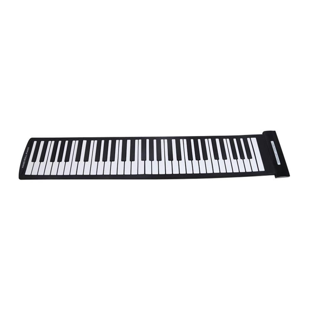 Portable 61 Keys Folding Piano Hand-rolled Electronic Pianos Beginner Instrument
