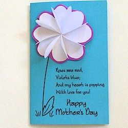 Mother S Day Flower Card