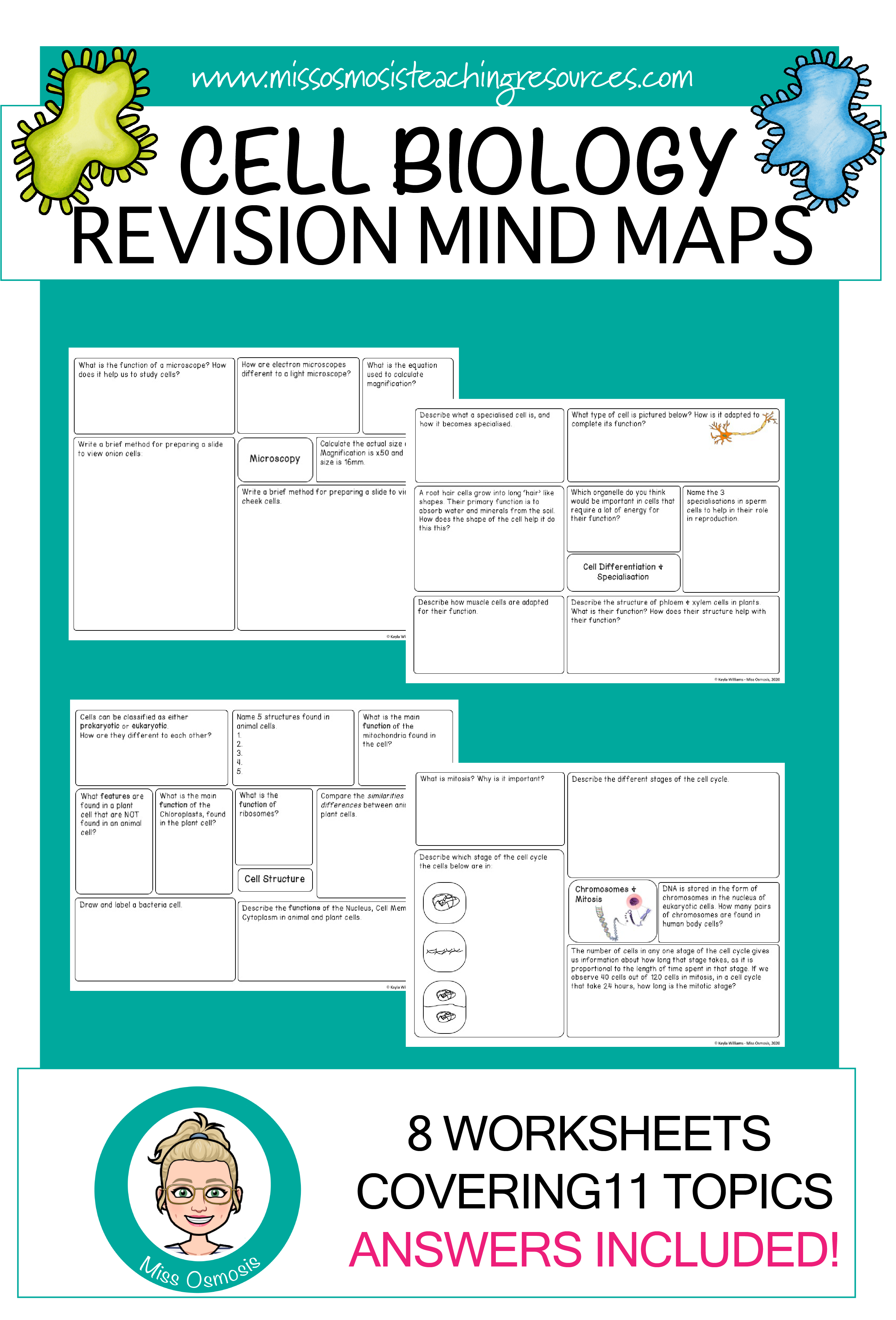 Cell Biology Revision Worksheets In