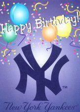 New York Yankees Happy Birthday Card Greeting