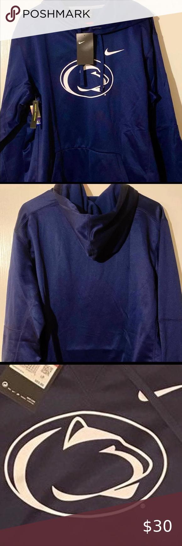 Sold New Penn State Nike Hoodie Sz L Nike Hoodie Cool Hoodies Long Sleeve Tshirt Men [ 1740 x 580 Pixel ]