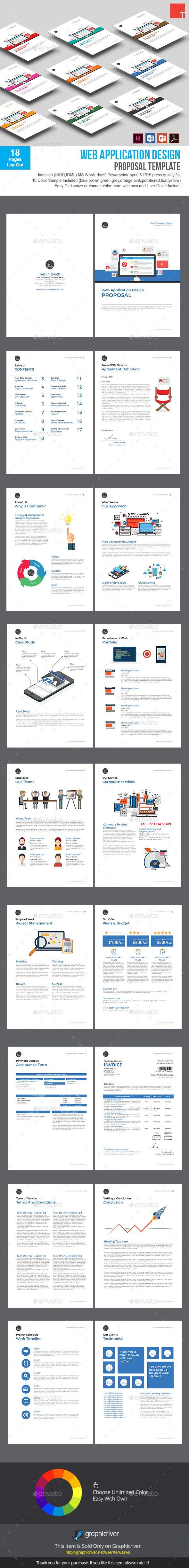 Web Application Design Proposal Template — InDesign INDD #creative ...