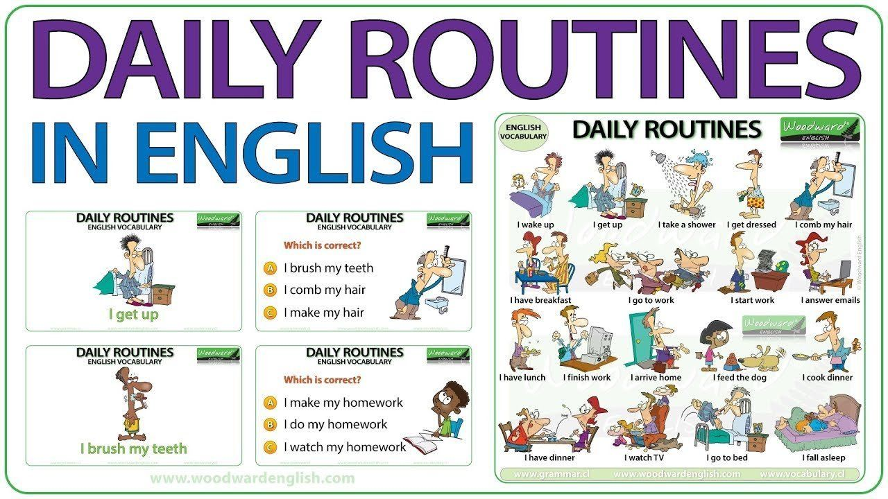 Daily Routines in English Vocabulary in 2020 Daily