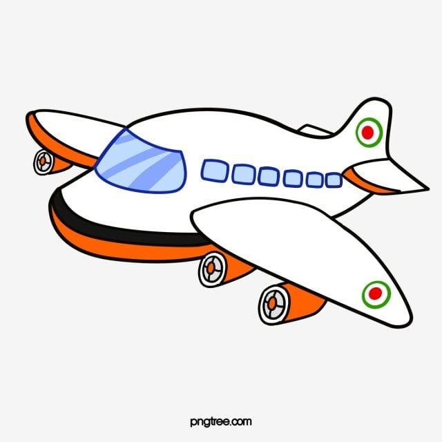 رسم كاريكتوري طائرة الطائرات رسوم متحركة بسيط Png وملف Psd للتحميل مجانا Menggambar Kapal Kartun Pesawat