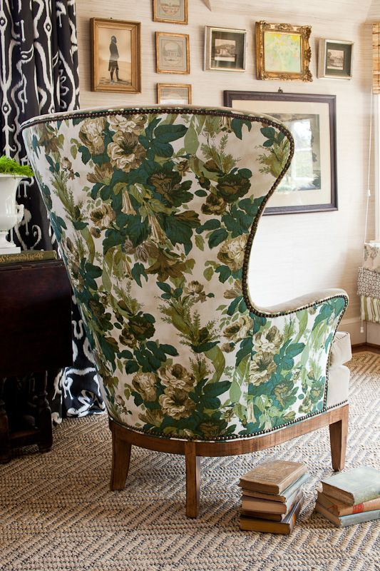 Lauren Leiss Design Fabulous Combo Of Modern Wing Chair