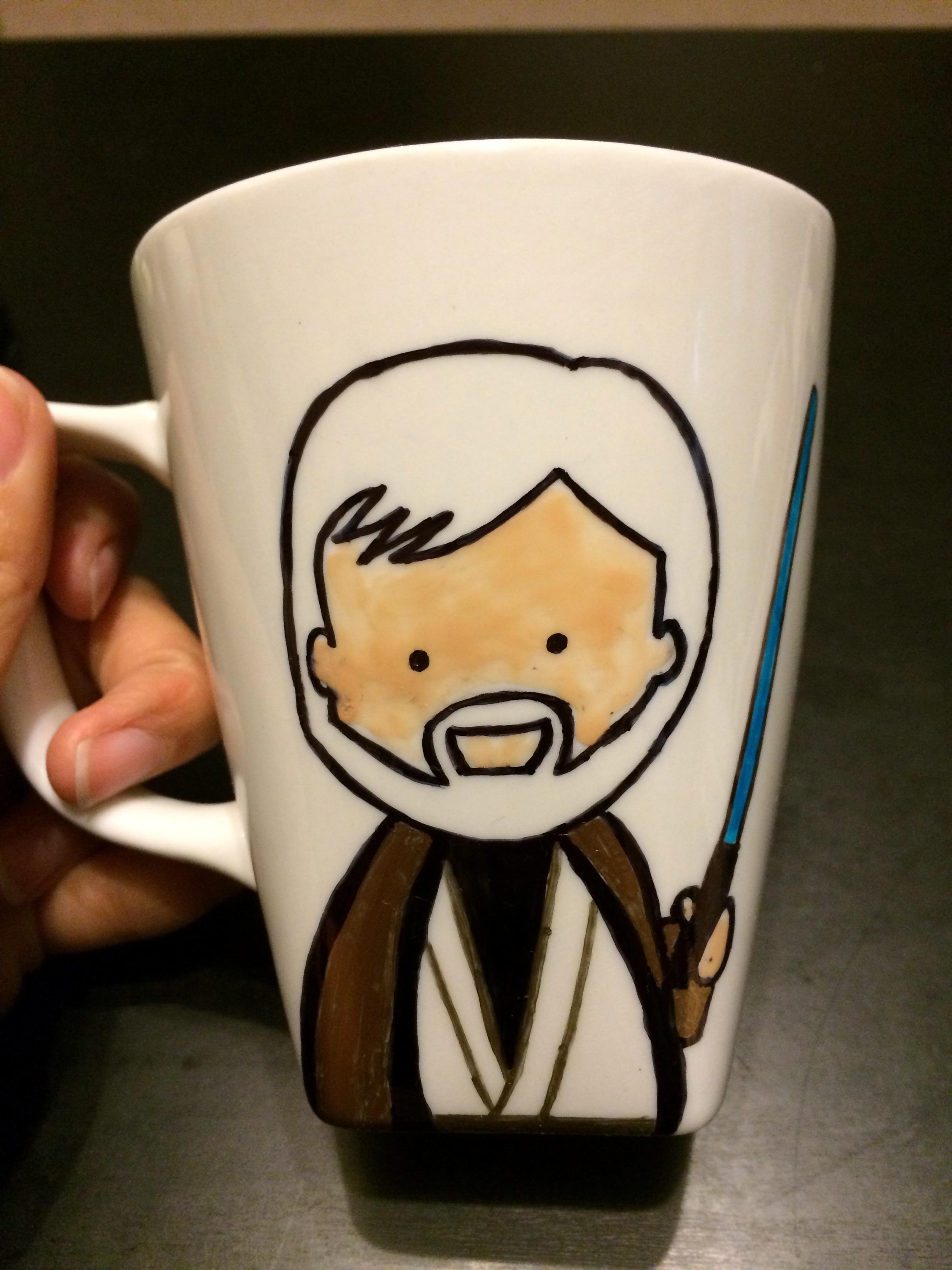 made a star wars mug for my boyfriend for christmas album on imgur - Cup Design Ideas