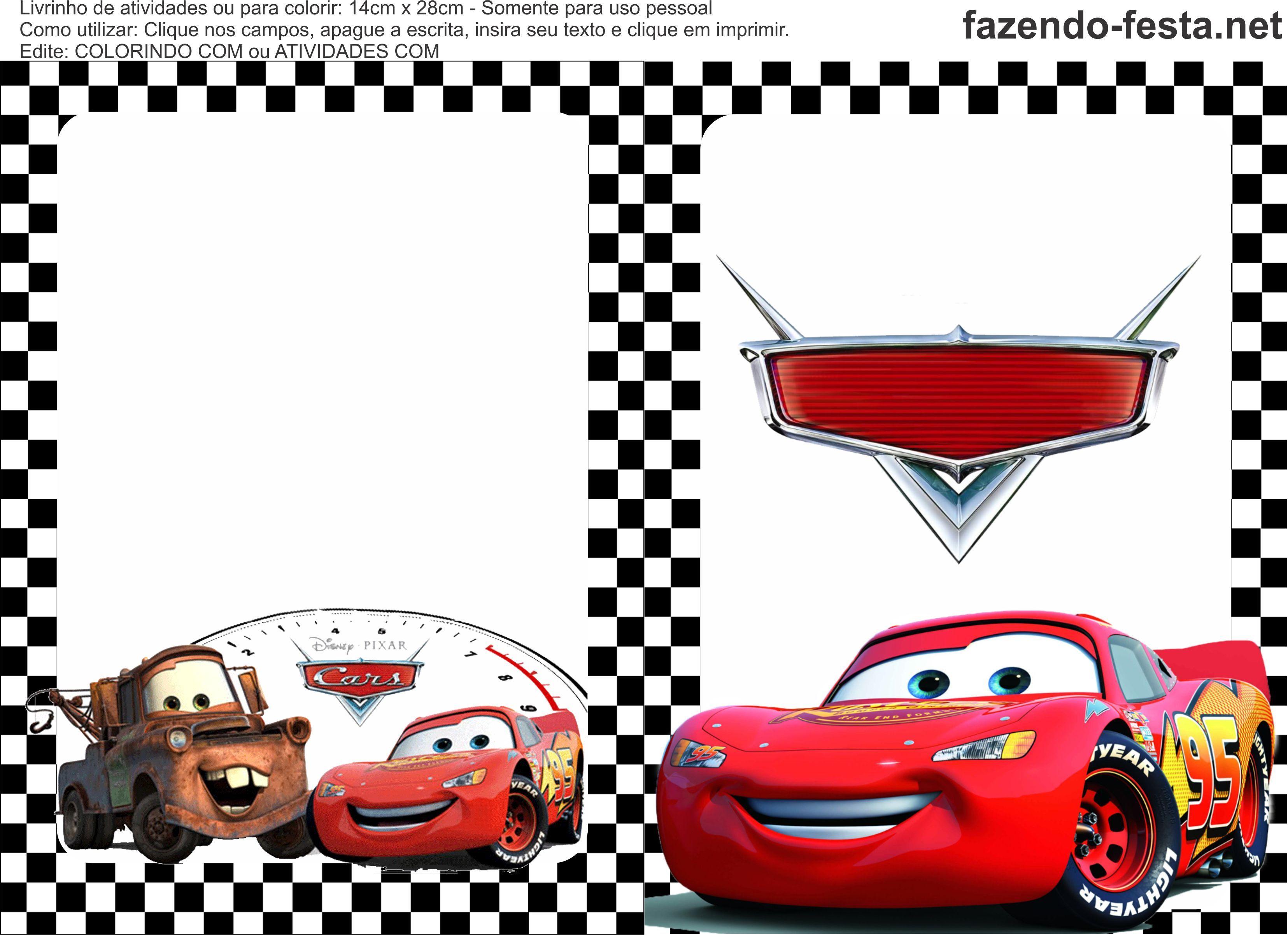 livrinho de colorir carros da disney para imprimir | the cars ...