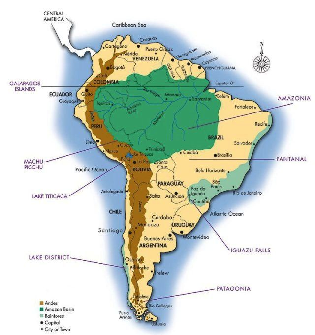 South+America+Mapjpeg Maps Pinterest Amazon rainforest, South - copy interactive world map amazon