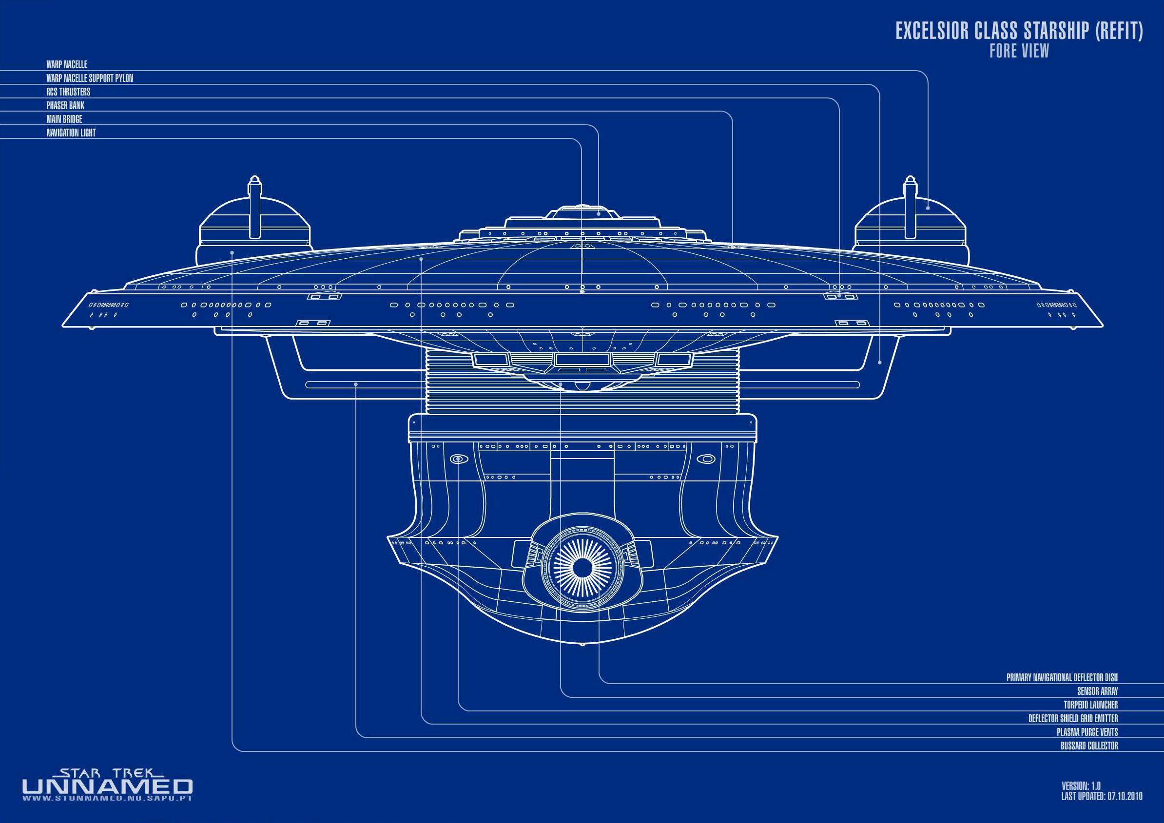 Excelsior class starship variants | STAR TREK Excelsior Class Starship