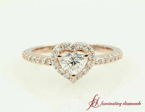 Want to customize Heart Shaped Diamond Halo Engagement Ring? Fascinating Diamonds in-house jewelery designers team will help you customize your piece.