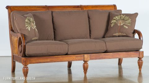 Image Of Wood Frame Sofa With Cushions Home Sofa Furniture Wood