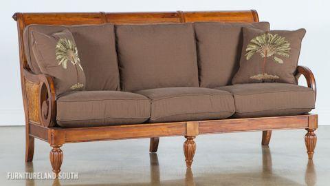 image of wood frame sofa with cushions - Wood Frame Sofa With Cushions