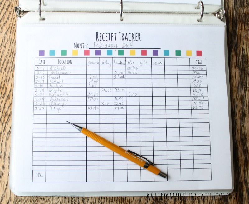 family binder budget planner free printable Family binder