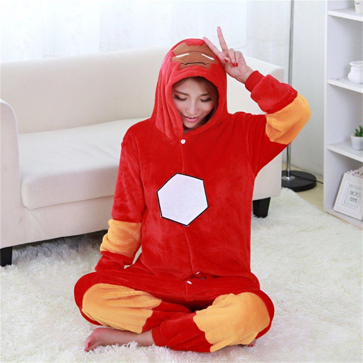 ffcc206308 kigurumi red Iron Man onesies animal pajamas for adults in 2019 ...