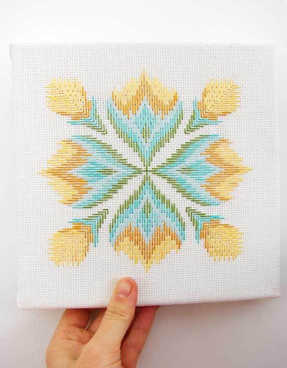 aesthetic outburst bargello...needlepoint pattern that i think Carol ...
