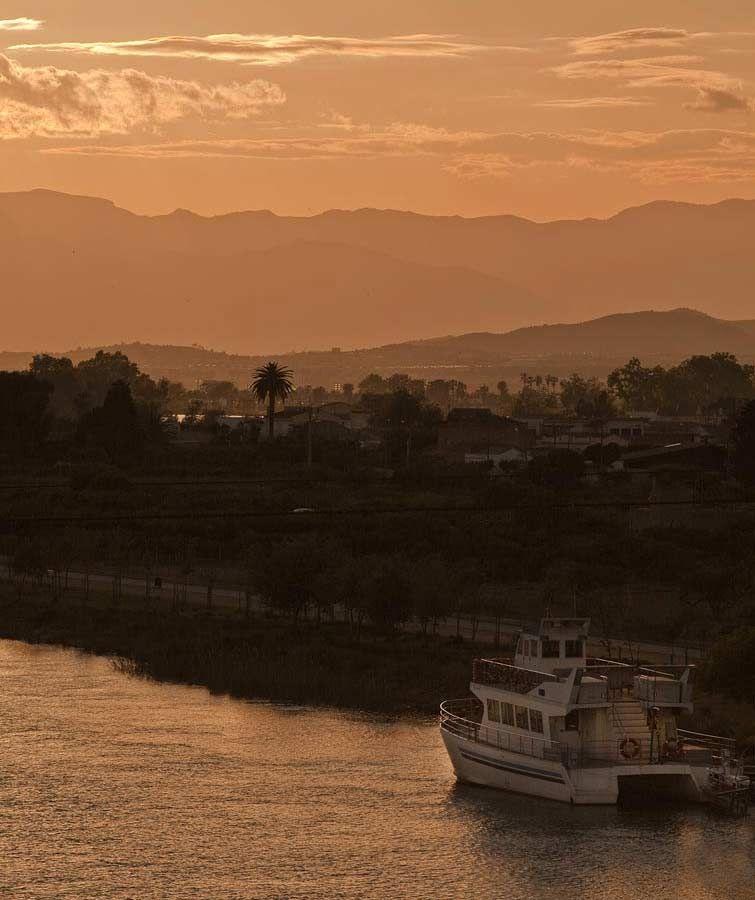 #Deltebre #village #sunset #boat #landscape #river