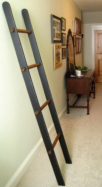 Blanket Ladder Cuter Than Having A Blanket Basket