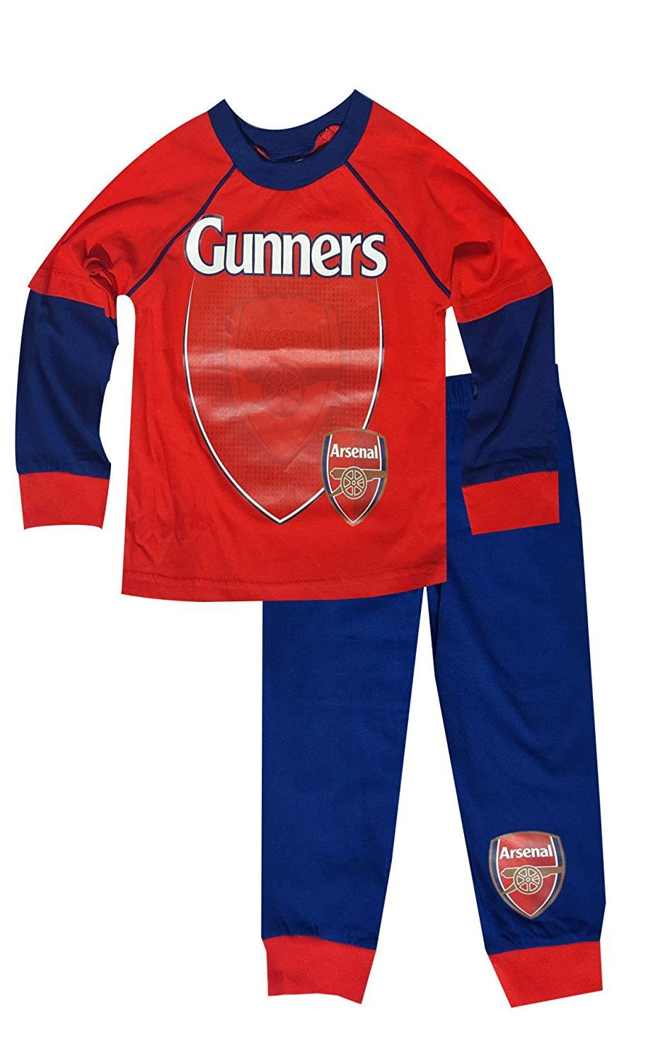bcf4d1213 Amazon.com  Boys Official Arsenal FC Long Length Cotton Pajamas Age 2 to 12  Years  Clothing