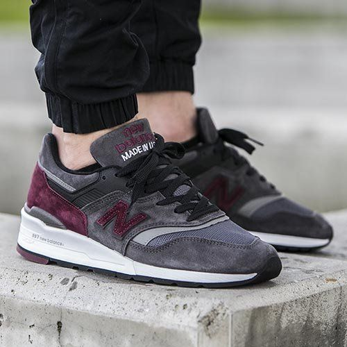NEW BALANCE M997CCF - MADE IN THE USA Charcoal   Burgundy  a821679fc4