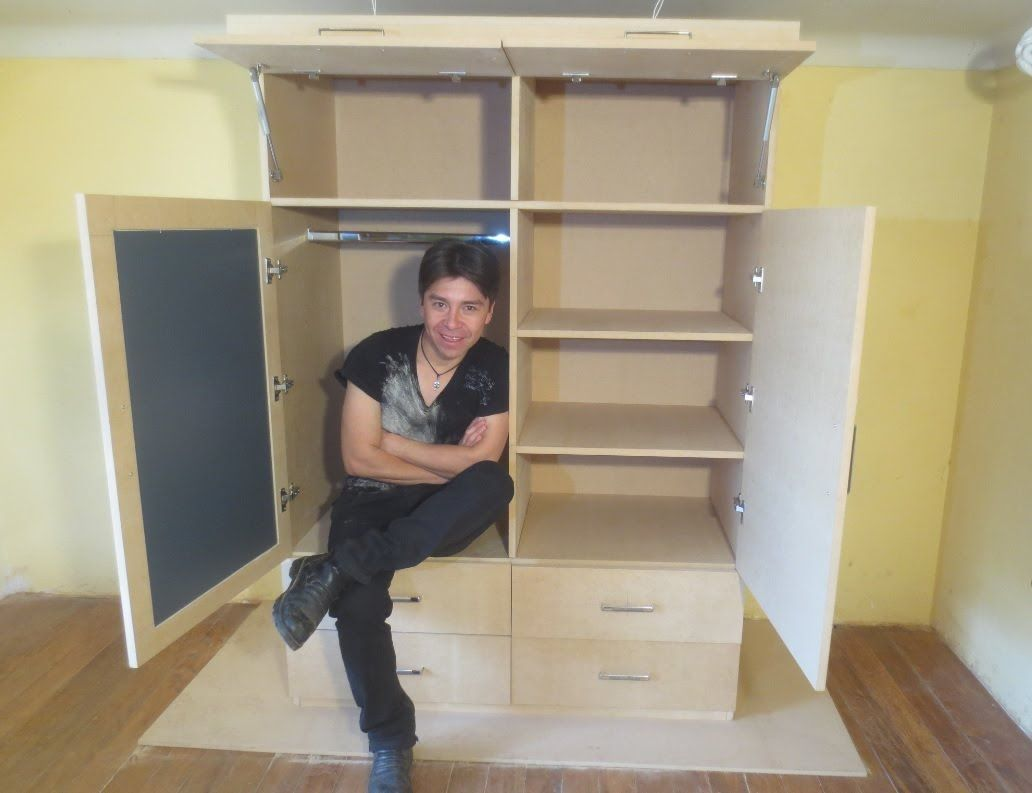 Como hacer un ropero o closet de mdf facil madera for Muebles de carton pdf
